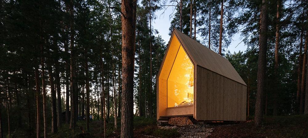 Uma cabana de madeira para desligar do mundo